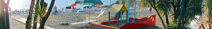 детская площадка на пляже